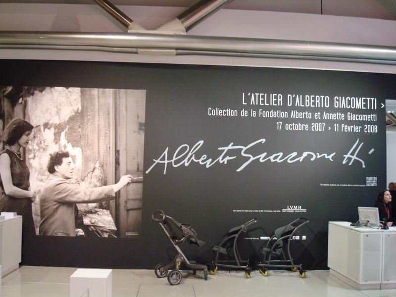 Exposition sculpteur Giacometti à Beaubourg
