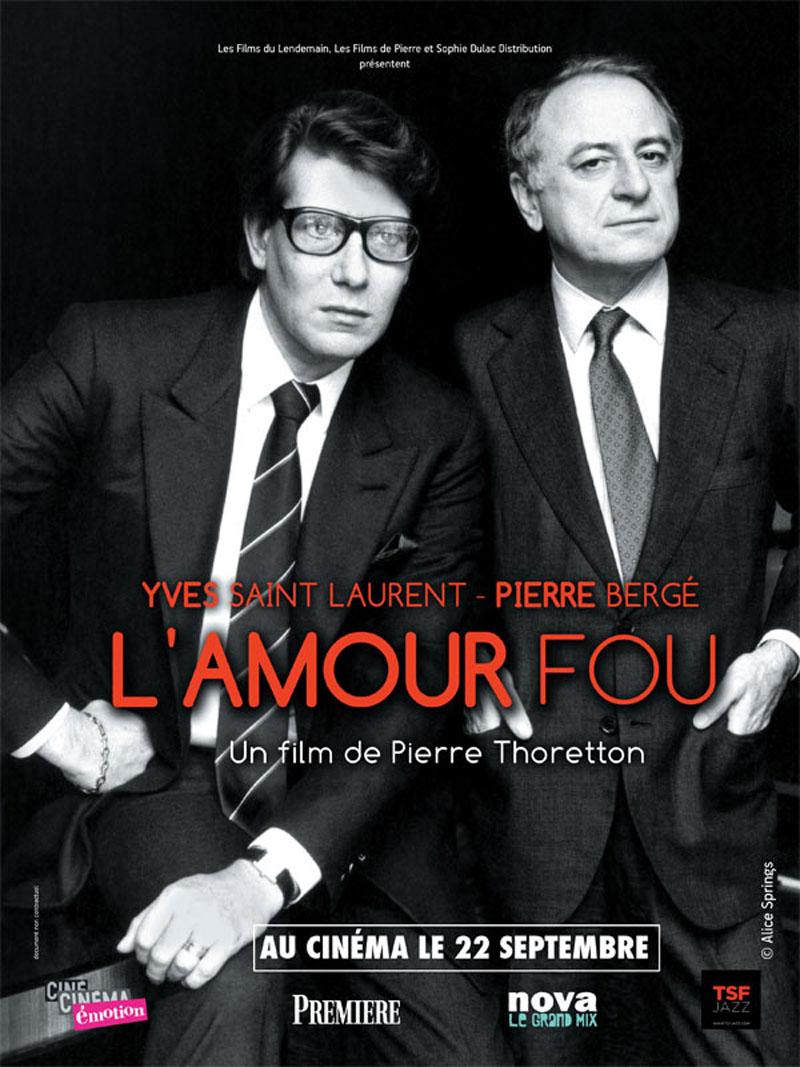 Cinéma L'Amour Fou Yves Saint Laurent