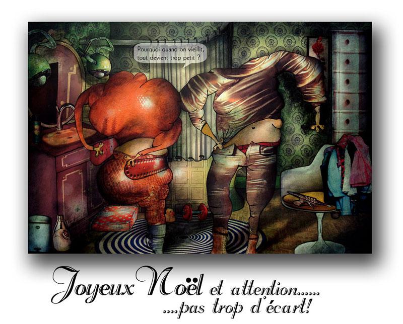 Vœux 2008 du peintre contemporain Jeremie Baldocchi