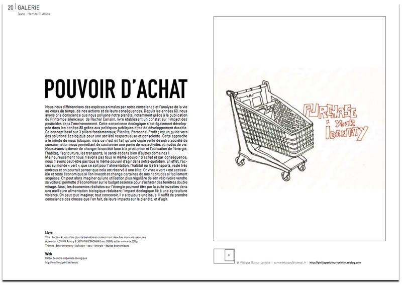 Parution dans le magazin le reservoir du peintre contemporain Jeremie Baldocchi