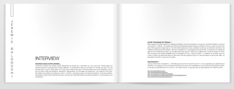 Parution de mon travail d'artiste peintre dans le magazine d'art contemporain Plateforme Magazine
