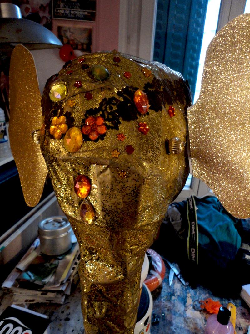 Réalisation artistique d'une sculpture pour un spectacle