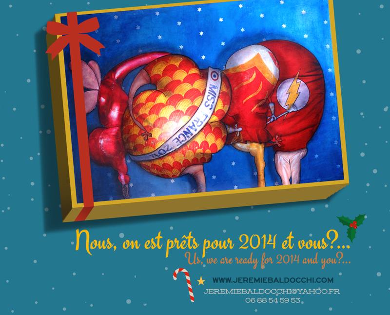 Vœux 2014 du peintre contemporain Jérémie Baldocchi