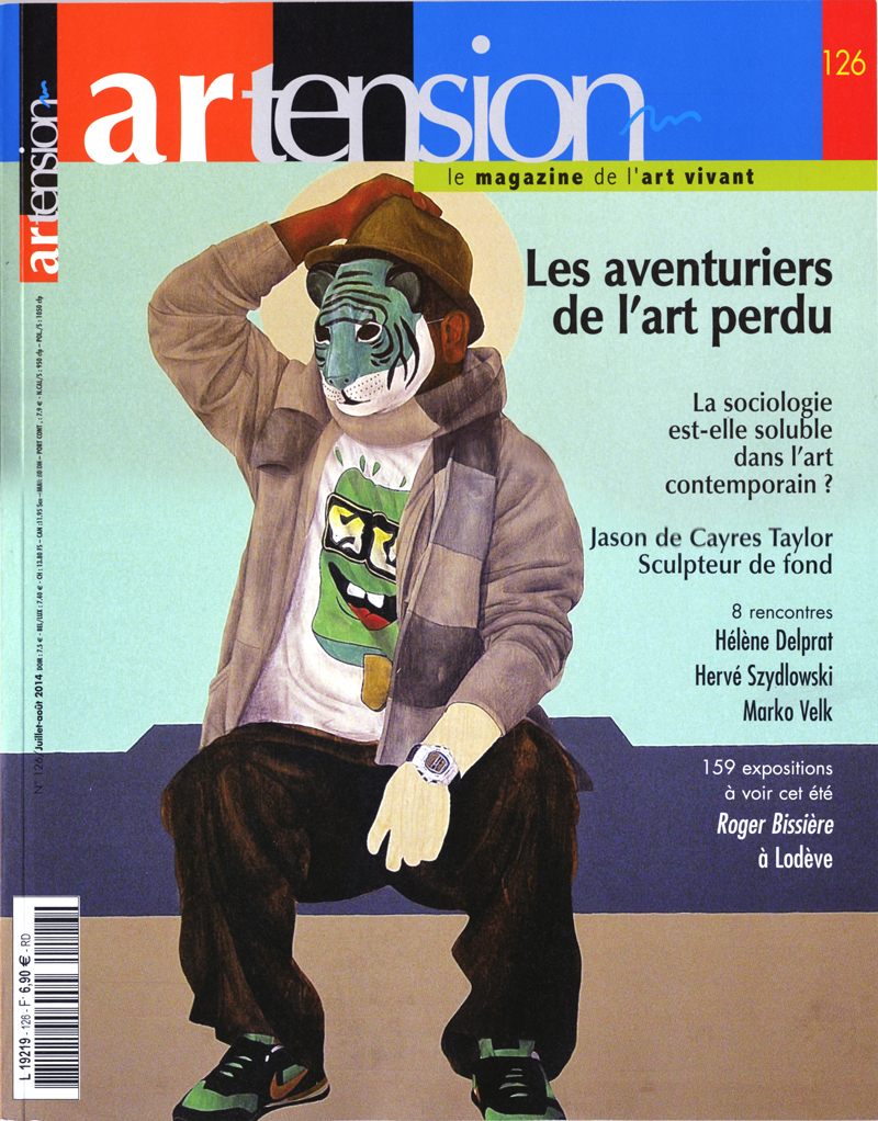 Parution de mon travail d'art contemporain dans le magazine d'art Artension