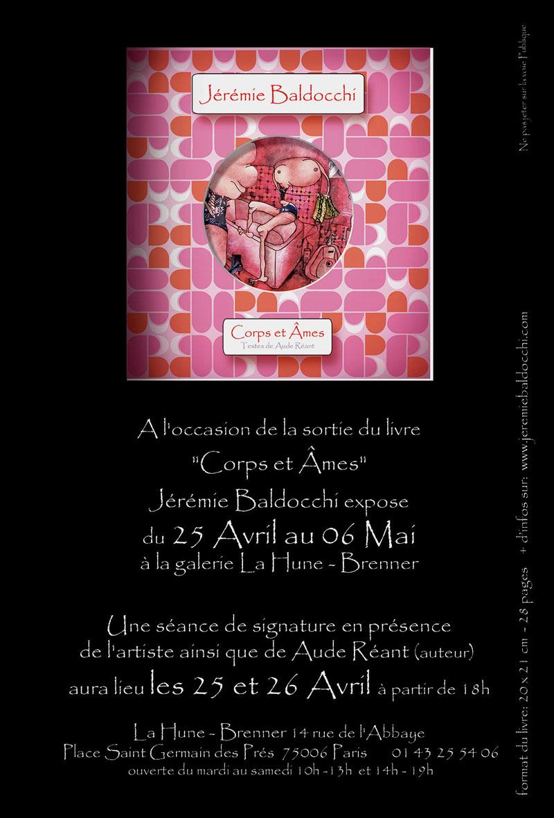 Invitation exposition peinture de Jérémie Baldocchi