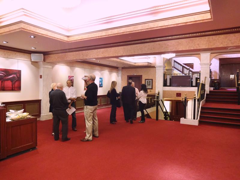 Exposition à la galerie d'art du théâtre Capitol à Moncton au Canada