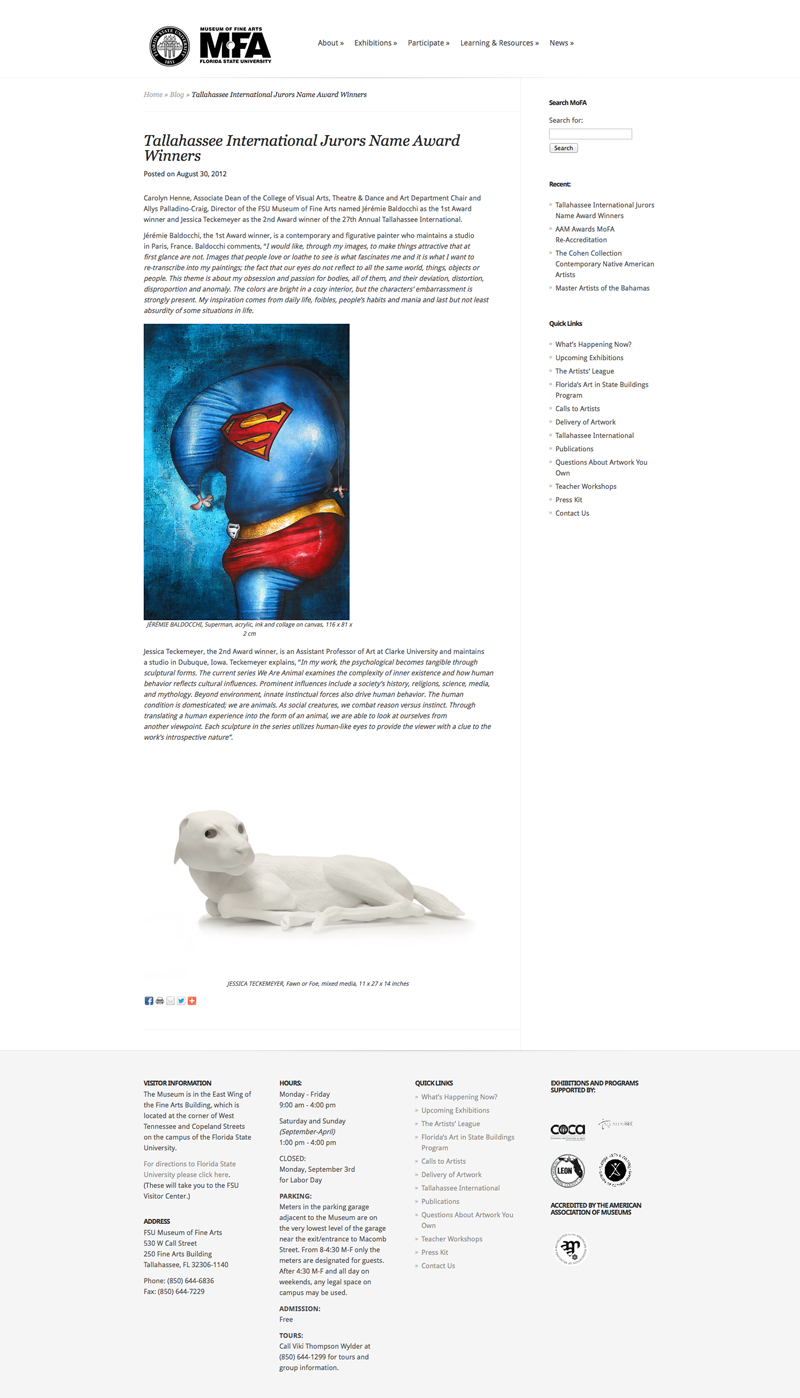 1er prix d'art contemporain du Musée des Beaux-Arts de Floride