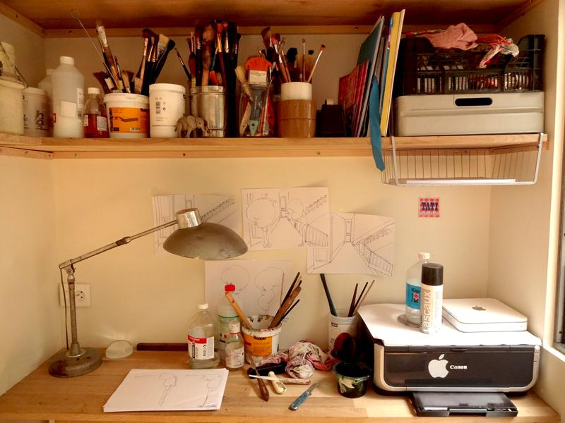 Porte ouverte de mon atelier d'artiste peintre contemporain