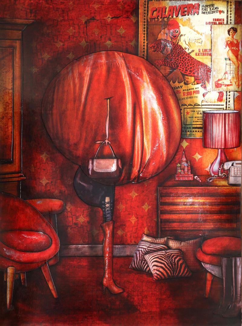 Peinture contemporaine et figurative Sabine, 18h25