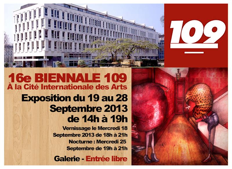 Exposition à la Biennale 109 à la Cité Internationale des Arts de Paris