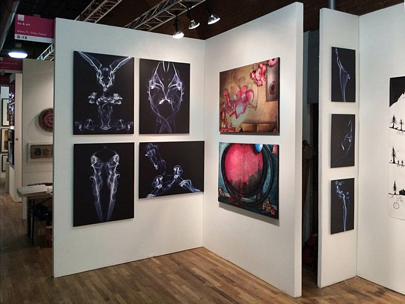 Exposition à la foire international d'art contemporain à New-York