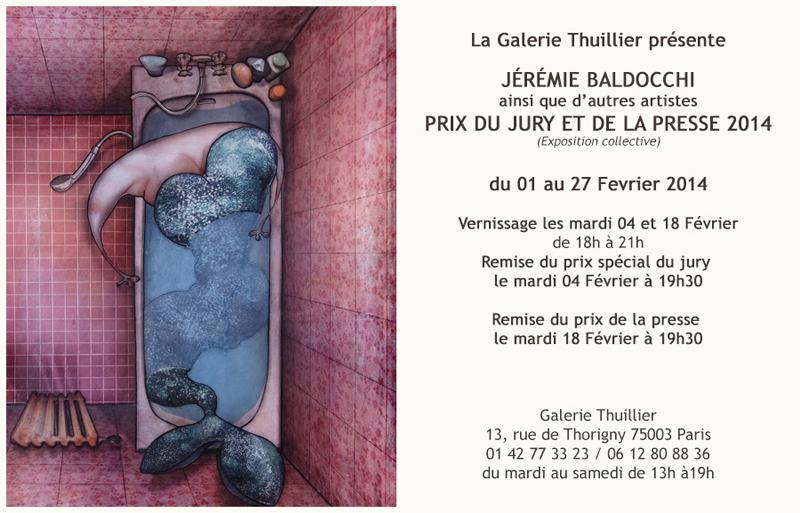 Exposition à la Galerie Thuillier Prix du Jury et de la Presse