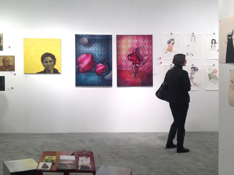 Exposition à la foire international d'art contemporain à Seattle