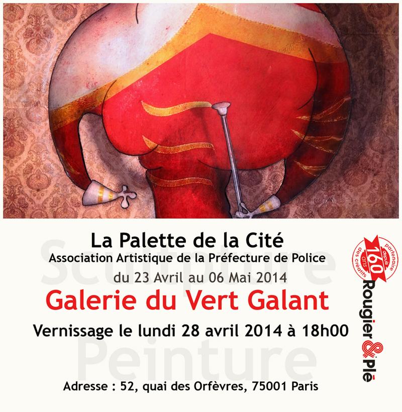 Exposition à la Galerie du Vert Galant à Paris