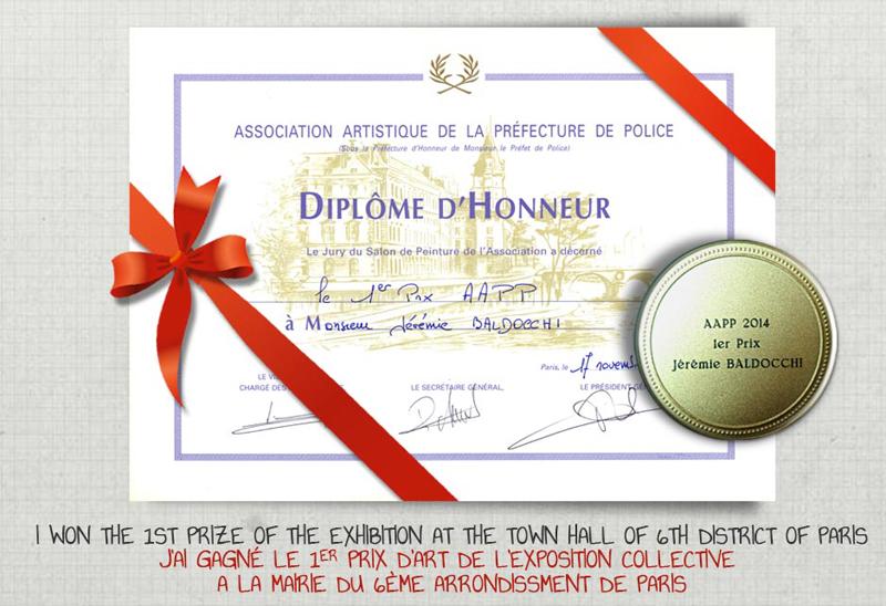 1er Prix à la mairie du 6ème arrondissement de Paris