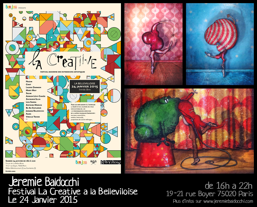 Exposition au festival d'art contemporain La Creatiive