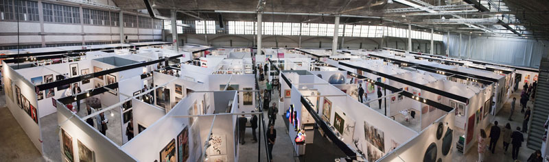 Exposition à la foire Affordable Art Fair d'art contemporain à Bruxelles