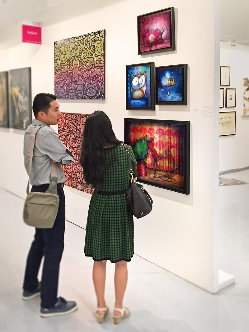 Mes toiles à la Foire Affordable Art Fair à Séoul en Corée du Sud