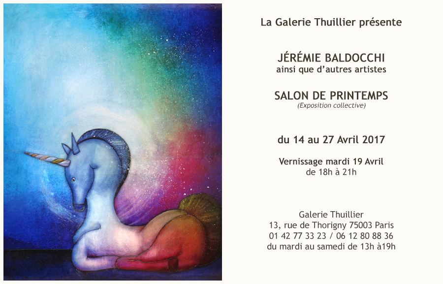 Exposition à la galerie Thuillier à Paris