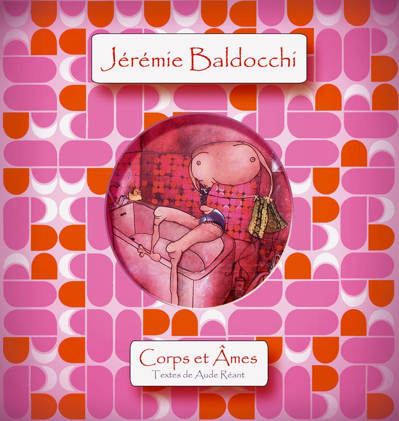 Couverture du livre de peinture de l'artiste Jeremie Baldocchi
