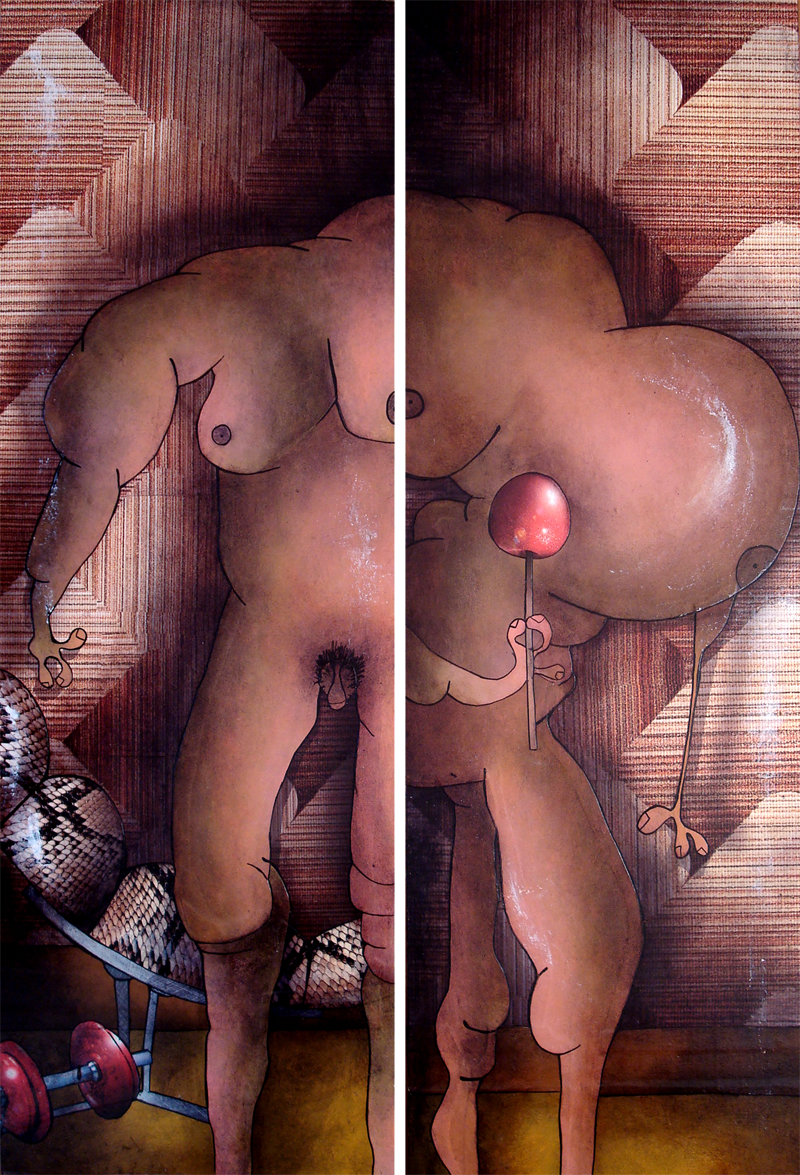 Peinture Adam et Eve