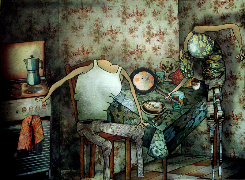 Peinture Discussion silencieuse