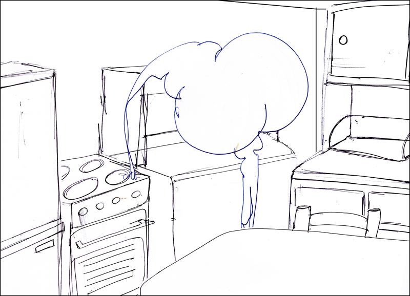 Croquis pour la peinture Vinyl dans la cuisine