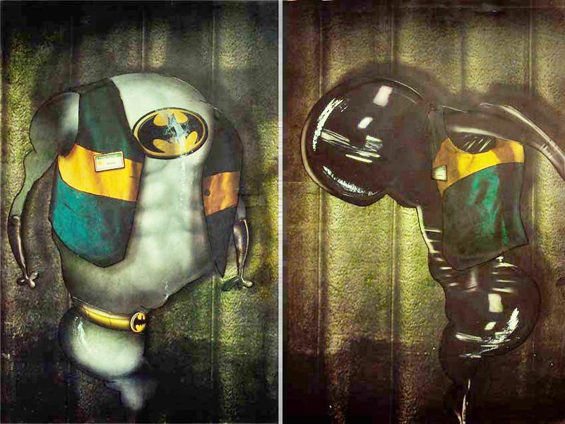 Peinture Batman et Catwoman