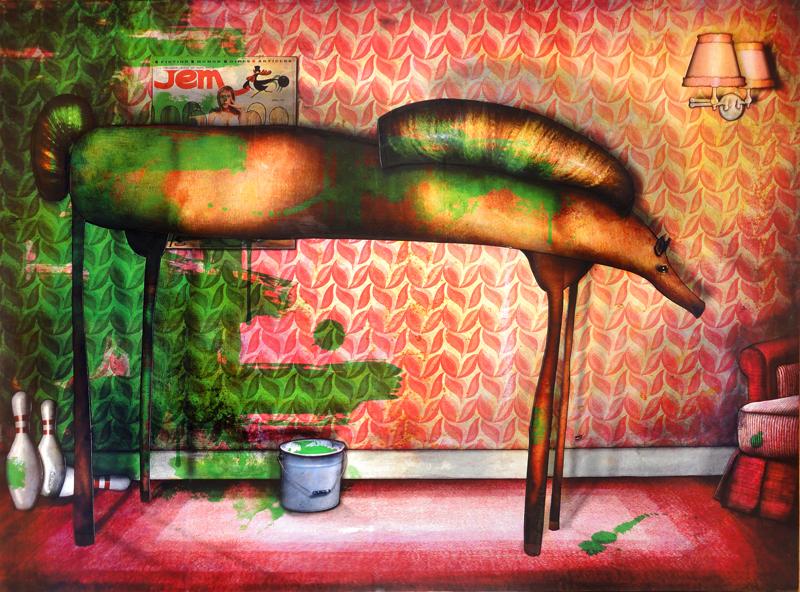 Peinture Cheval peint