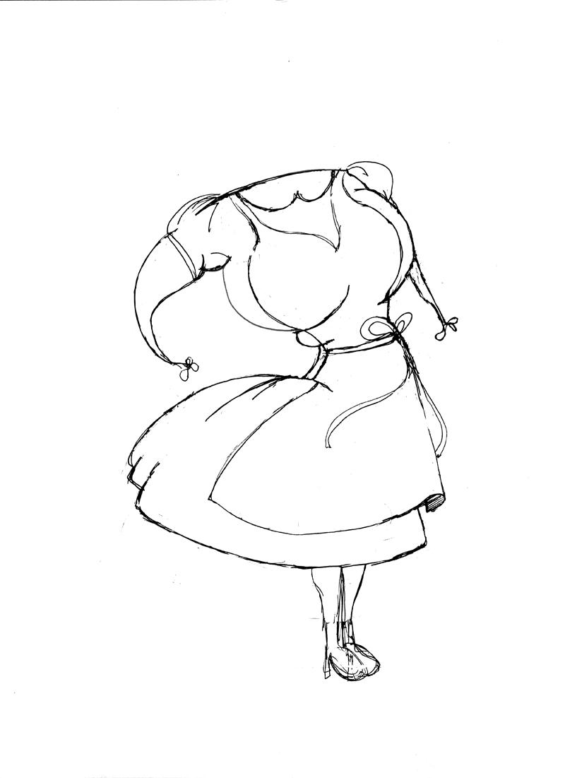 Croquis pour la peinture Alice