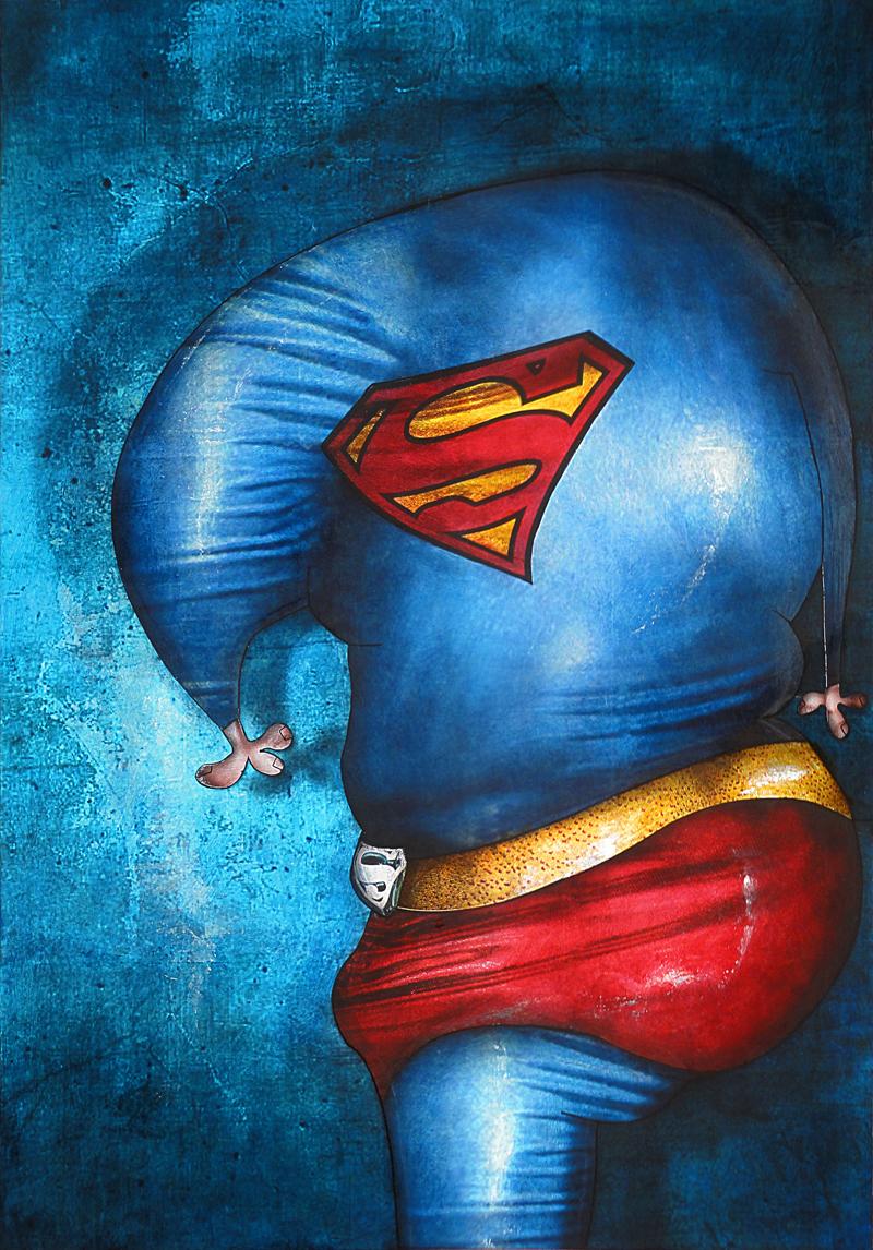 Peinture Superman