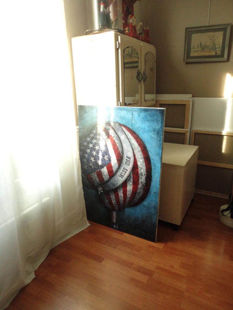 Croquis pour la peinture Miss USA 2012