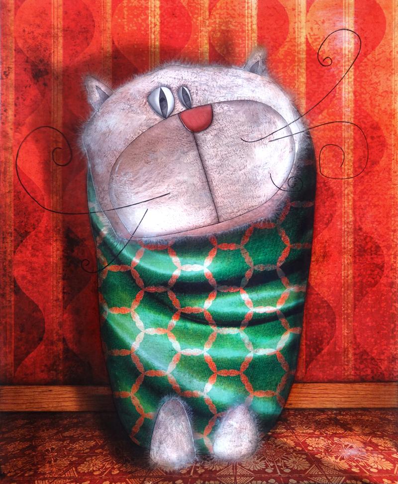 Peinture Chat de Soirée