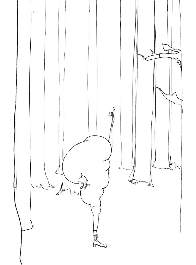 Croquis pour la peinture Forêt