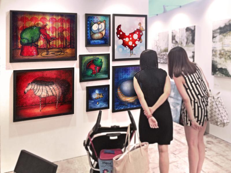 Peinture Zèbre de soirée à la foire Affordable Art Fair de Londres