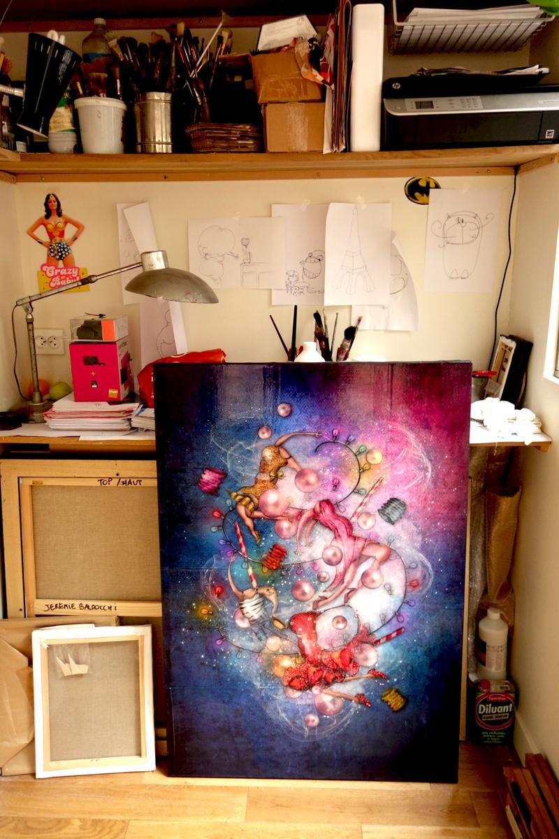 La peinture Le Bal dans mon atelier