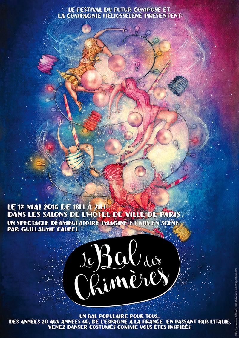 Affiche pour la soirée à la Mairie de Paris