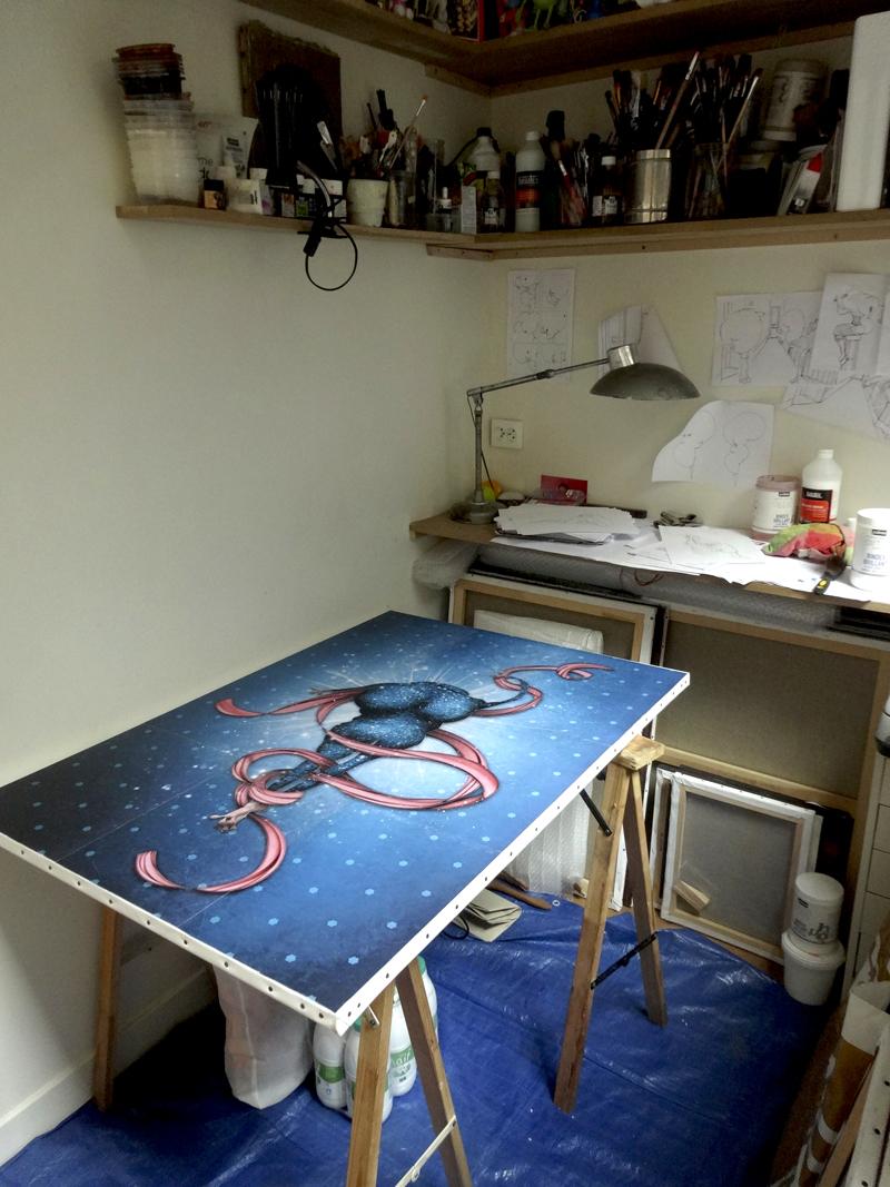 Photo du jour le 02-03-2014 du peintre contemporain Français Jeremie Baldocchi