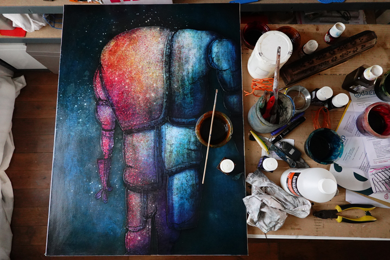 Photo du jour le 21-02-2021 du peintre contemporain Français Jérémie Baldocchi