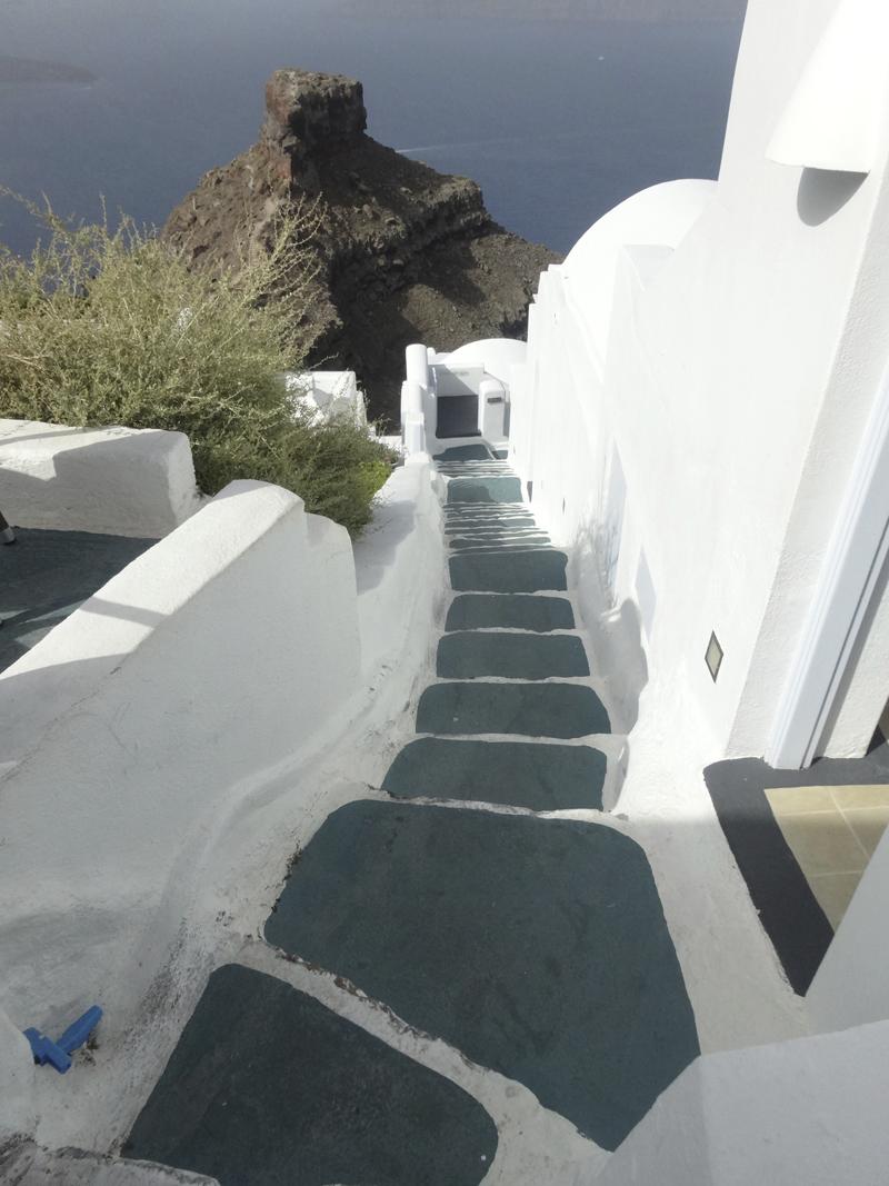 Mon voyage en Grece - île de Santorin, Firostephanie et Fira