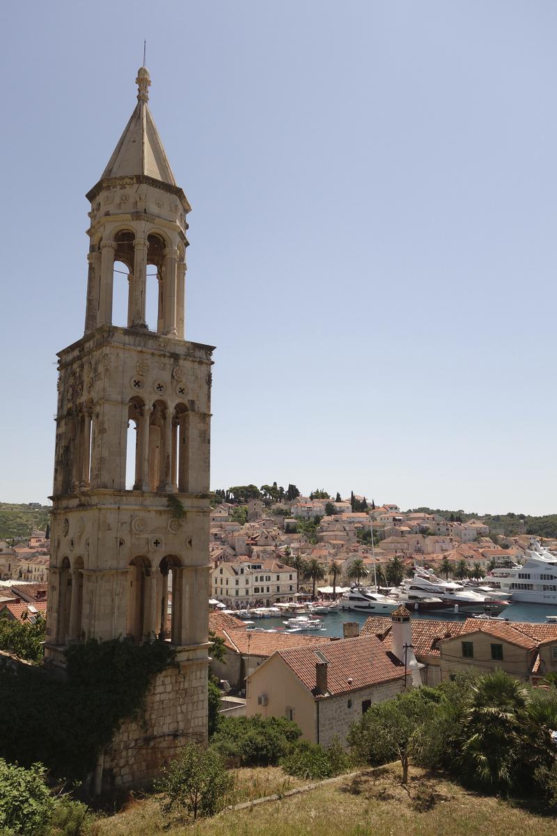 Hvar ville sur l'île d'Hvar en Croatie