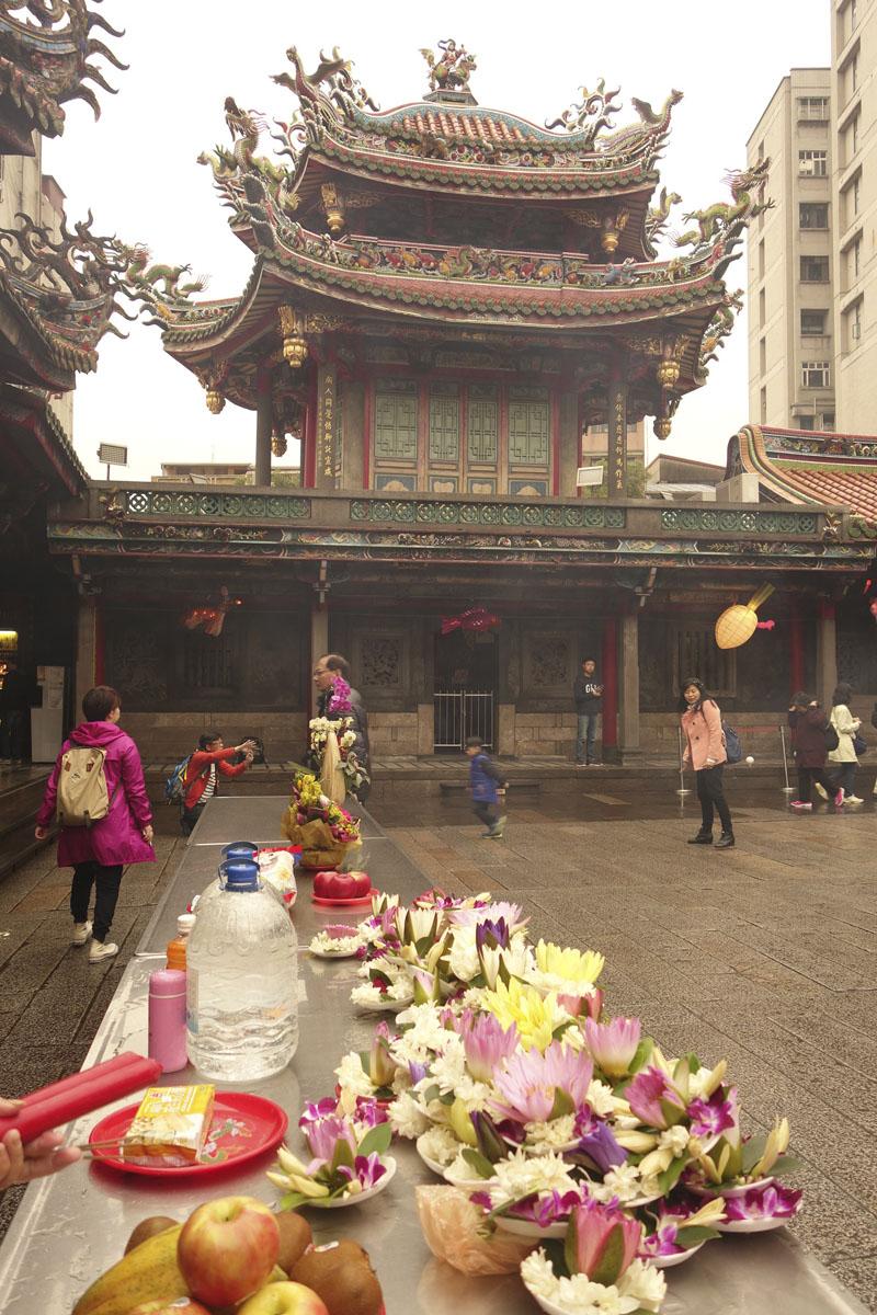 Voyage à Taipei à Taïwan Quartier Wanuha Temple Lunghshan