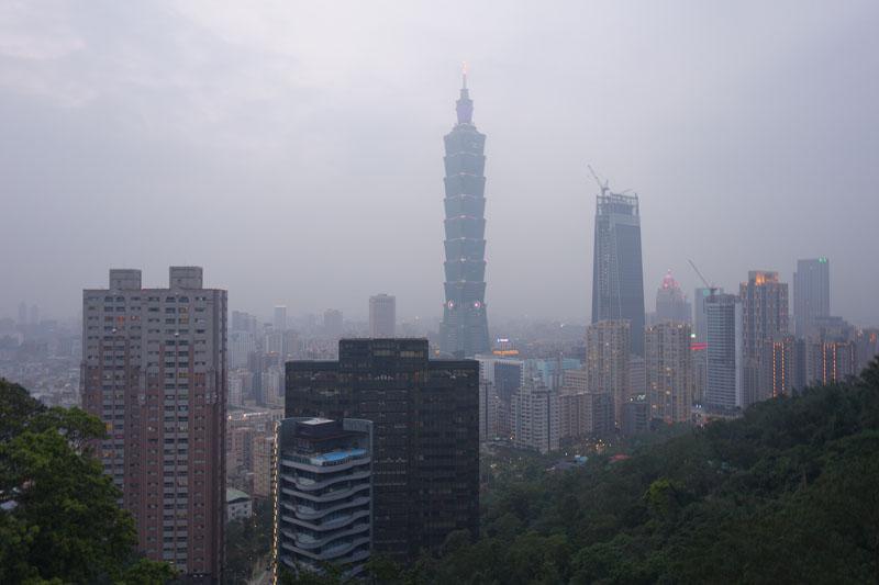 Mon voyage à Taipei à Taïwan Elephant Montain Xiangshan Hiking Trail