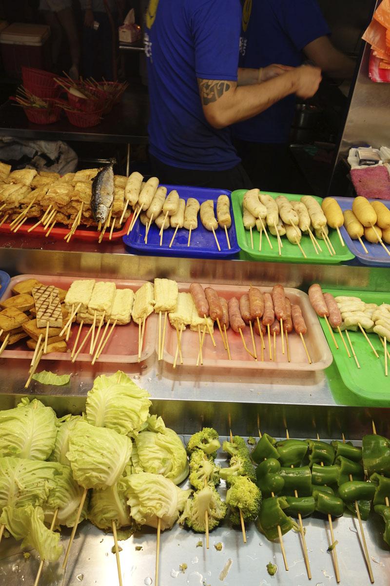 Mon voyage au Marché de nuit Ningxia à Taipei à Taïwan
