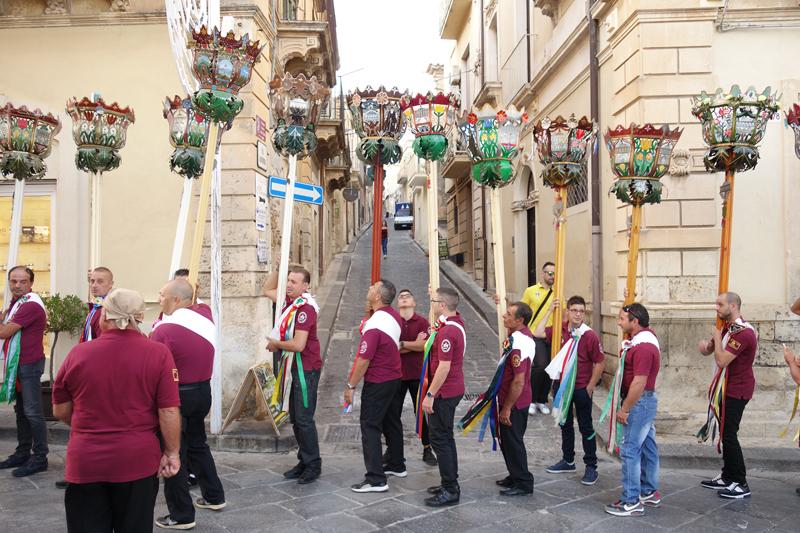 Voyage en Sicile à Noto Procession San Corrado