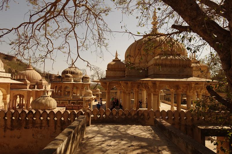 Mon voyage à Jaipur en Inde Cénotaphes de Gaitor Royal Gaitor Tumbas