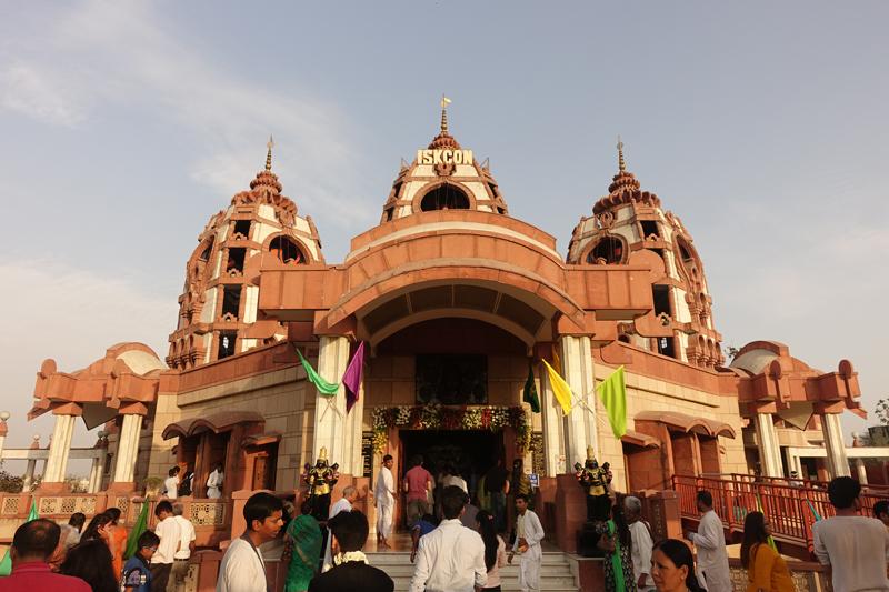 Mon voyage à Delhi en Inde Iskcon Temple