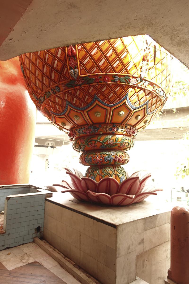 Mon voyage à Delhi en Inde Temple Hanuman