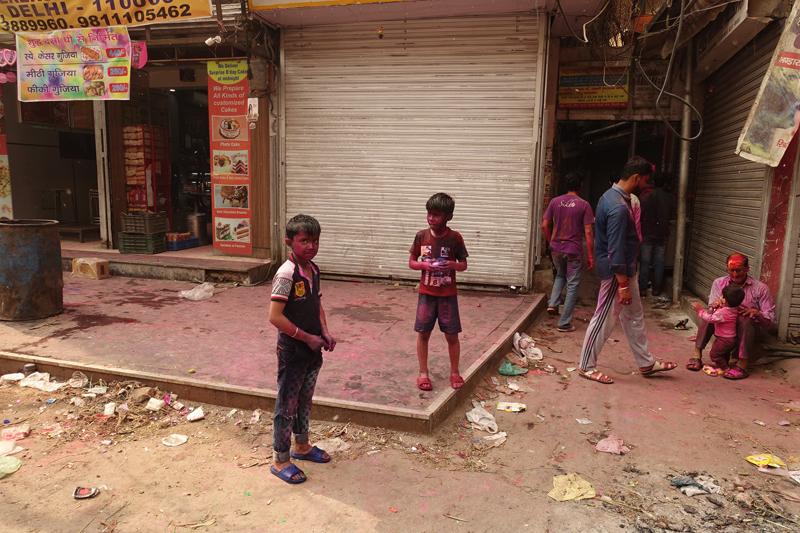 Mon voyage à Delhi en Inde Fête des couleurs Holi