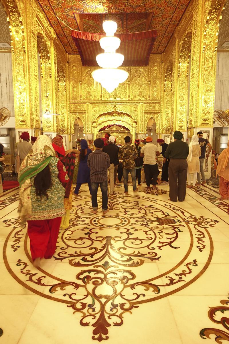 Mon voyage à Delhi en Inde Gurudwara Bangla Sahib